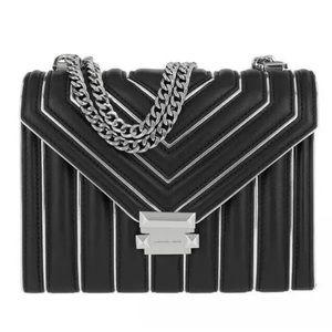 Michael Kors Whitney large shoulder bag black